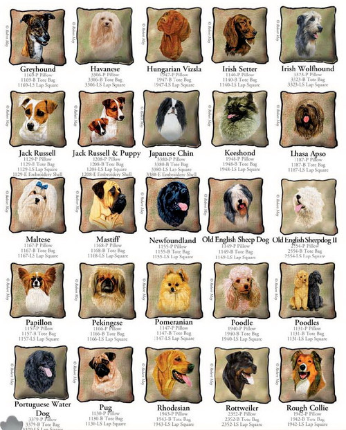 Dog Breed Products / Greyhound through Rough Collie