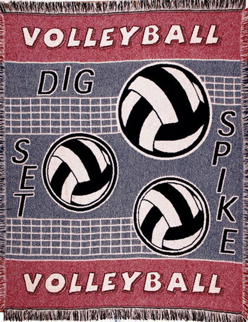 Spike Volleyball Woven Throw Blanket by Simply Home