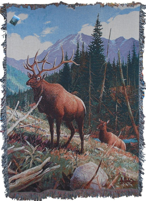 Elk Country Tapestry Throw