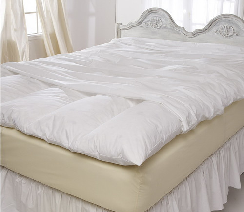 Pacific Coast® Twin Feather Bed Cover with Zip Closure