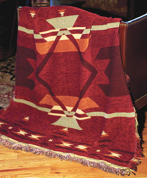 Flame Chenille Tapestry Throw