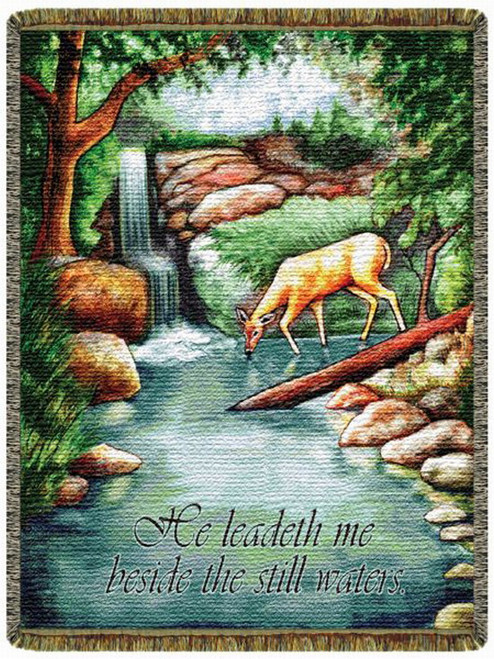 He Leadeth Me Tapestry Throw LC10164