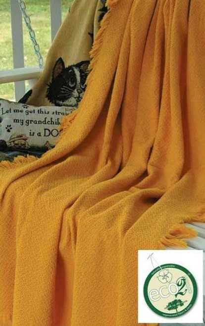 Hemingway Mango Color Throw