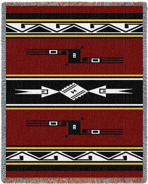 Southwest Fire (Mesquite Fire) Three Layer Woven Throw