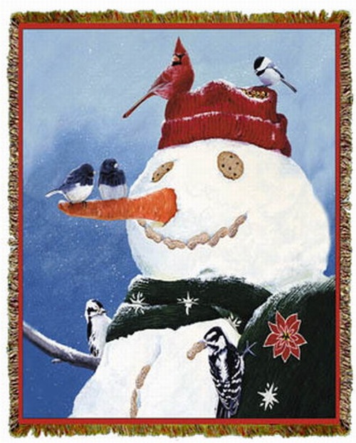 Snowman's Treat by Fred Szatkowski Tapestry Throw MS-2314TU4