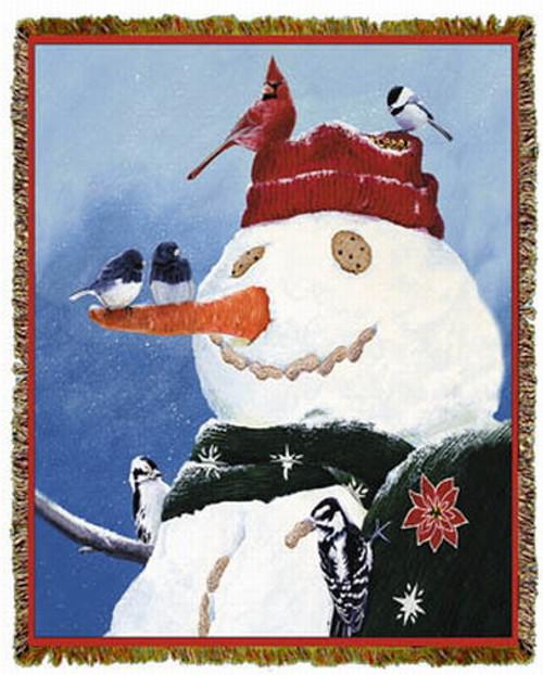 Snowman's Treat by Fred Szatkowski Tapestry Throw MS-2314TU4