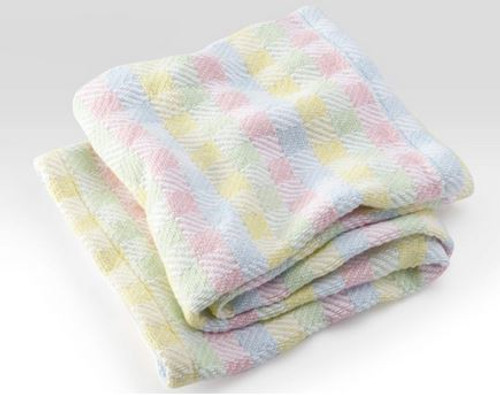 Hopscotch Cotton Baby Blanket by Brahms Mount