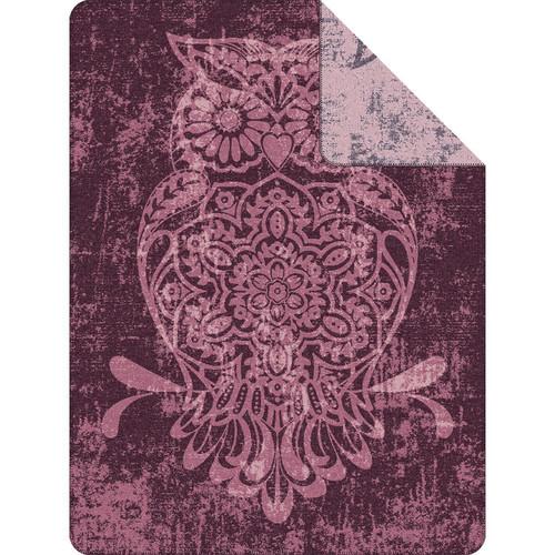 Ibena Reversible Owl Throw Blanket