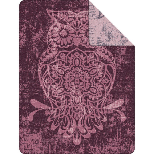 Ibena Reversible Owl Throw Blanket