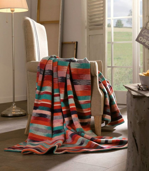 Ibena Aztec Cotton and Wool Blanket