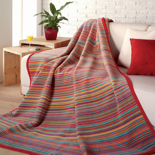 Ibena Messina Sunset Stripe Blanket
