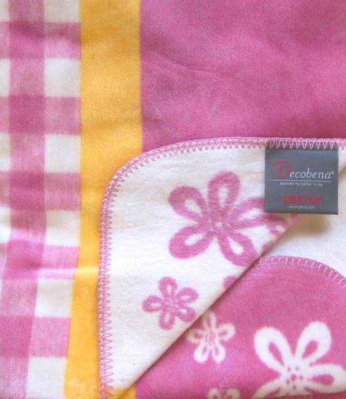 Ibena Pink Emilia Blanket