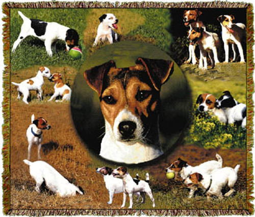 Jack Russell Terrier Dog Tapestry Throw MS-9368TU4