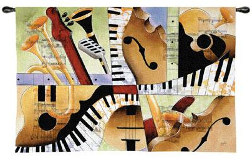 Jazz Medley I Tapestry Wall Hanging PC-2895-WH