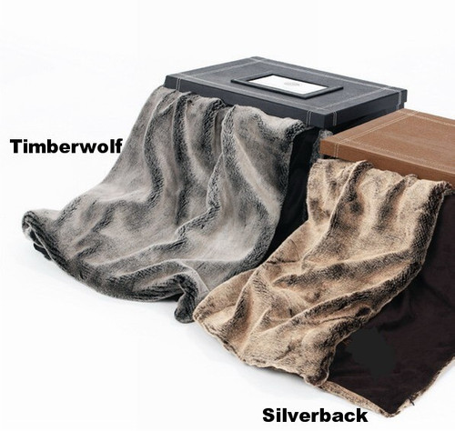Kanata Timberwolf or Silverback Faux Fur Throw