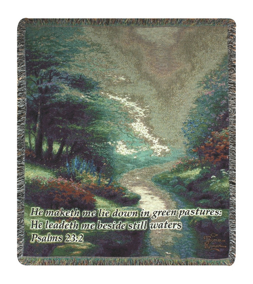 Thomas Kinkade Petals of Hope Tapestry throw