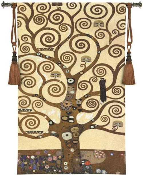 Klimt Tree Of Life Tapestry Wallhanging or Throw