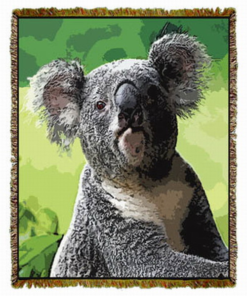 Koala Woven Afghan or Throw MS-3903TU4