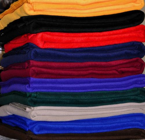 Large 100% Polyester Fleece Throw Blanket