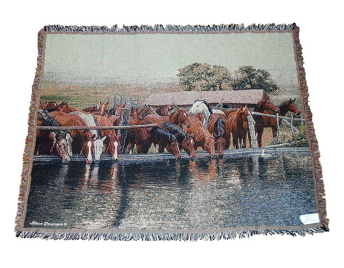 Last Call Horse Tapestry Throw by Steve Devenyns