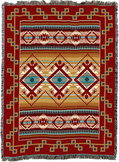 Las Cruces Cotton Tapestry Throw