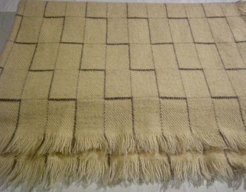Basket Weave 100% Organic Wool Blanket