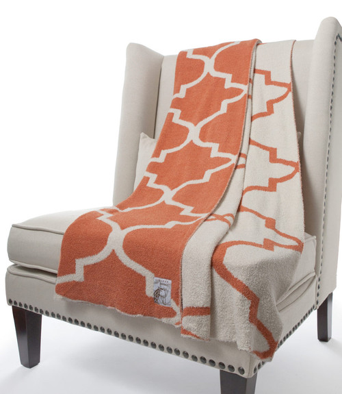 Little Giraffe Dolce™ Throw Matrix Orange Cream