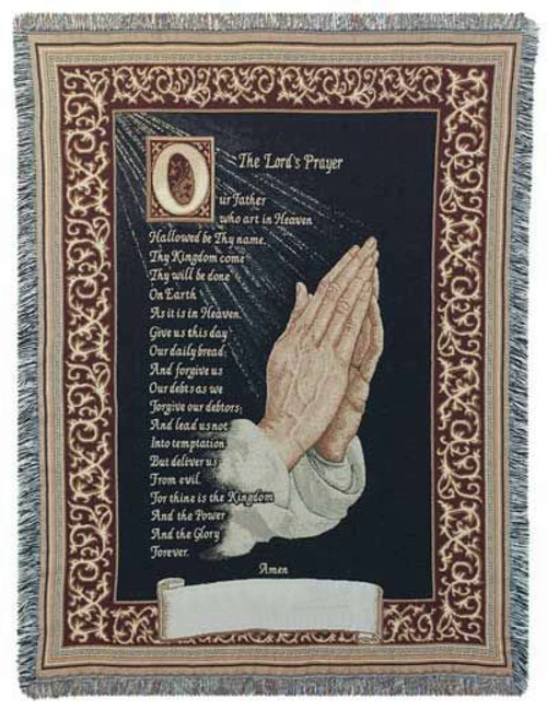 Lords Prayer Cotton Tapestry Throw