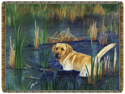 Loyalty Runs Deep Labrador Retriever Tapestry Throw