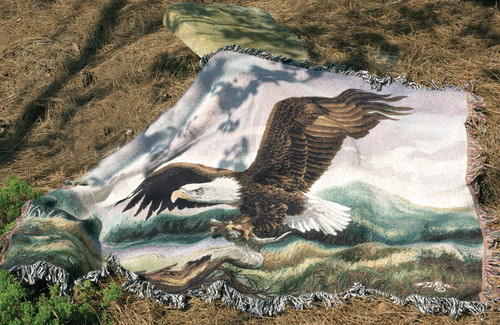 Majesty Eagle Tapestry Throw by Linda Picken