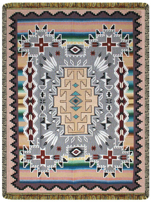 Many Trails Lead West Cotton Tapestry Throw 10216