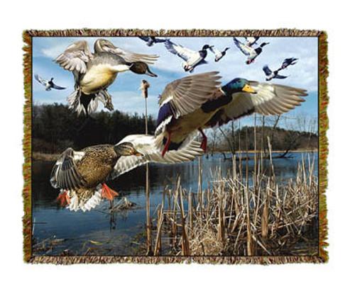 Flying Ducks Tapestry Throw