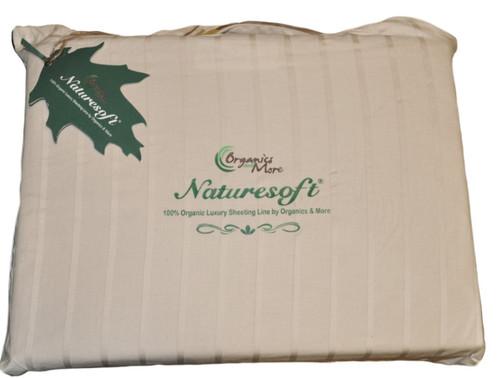 Organic Cotton Luxury Stripe Sateen Sheet Set