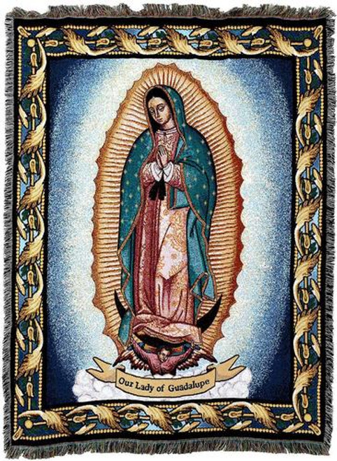 Our Lady of Guadalupe Tapestry Throw