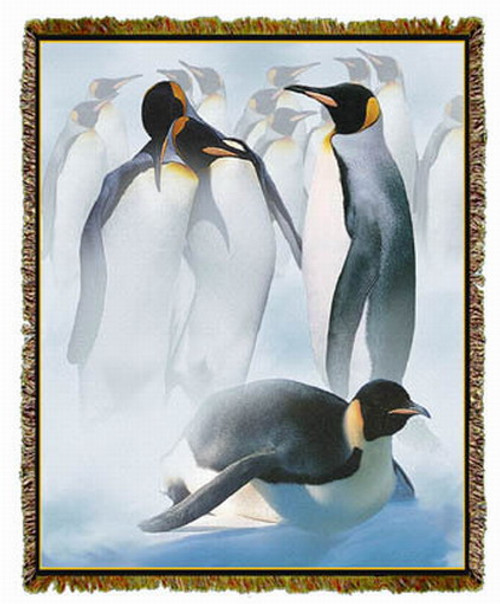 Penguins Tapestry Afghan or Throw MS-3916TU4