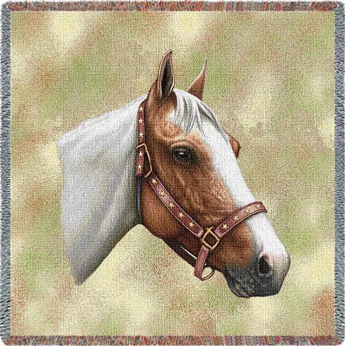 Pinto Horse Lap Square Throw