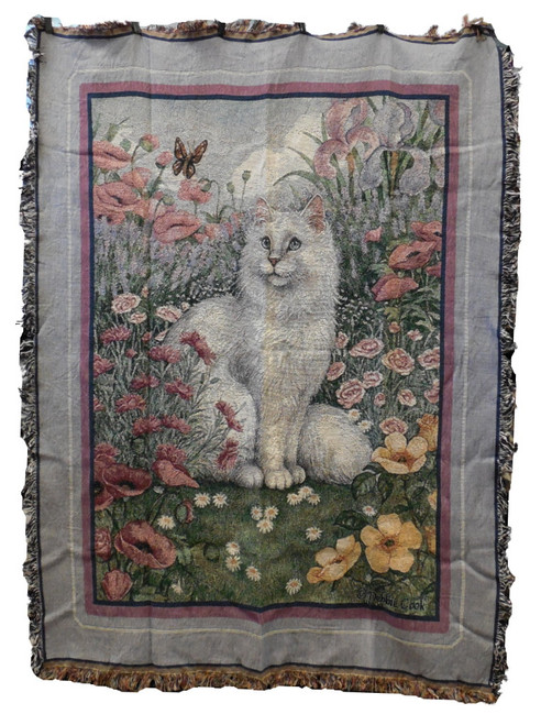 Posey Princess Cat Tapestry Throw Blanket