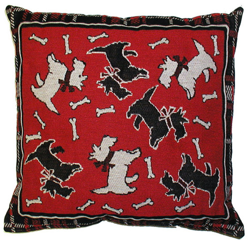 Red Scotties Pillow 40065