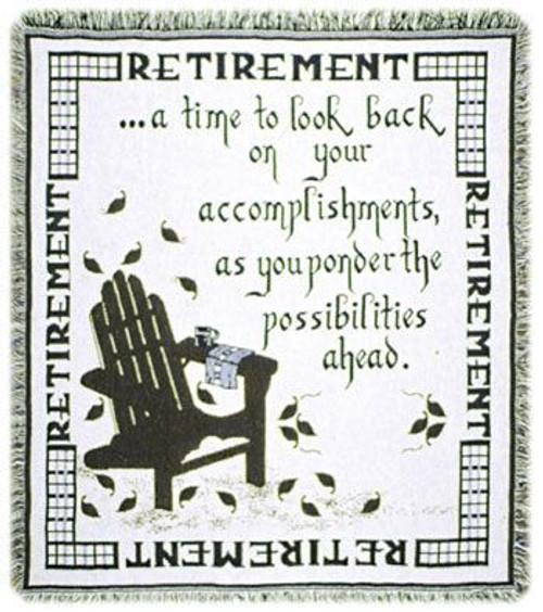 Retirement Cotton Throw Blanket