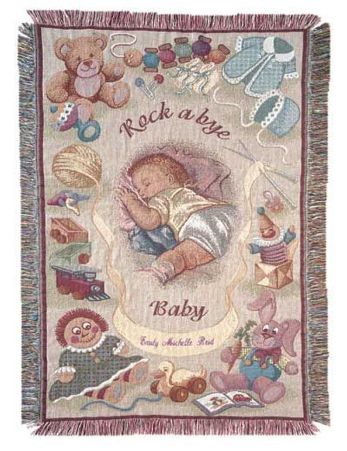 Rock A Bye Baby Mini cotton throw blanket