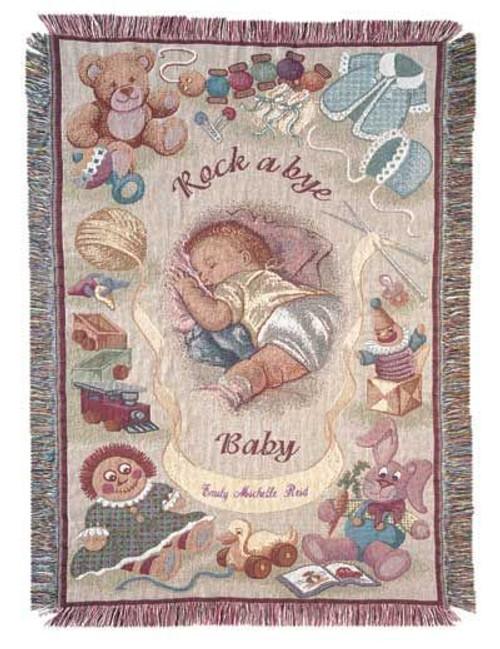 Rock A Bye Baby Mini cotton throw blanket