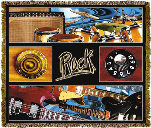 Rock Music Tapestry Throw MS-3877TU4