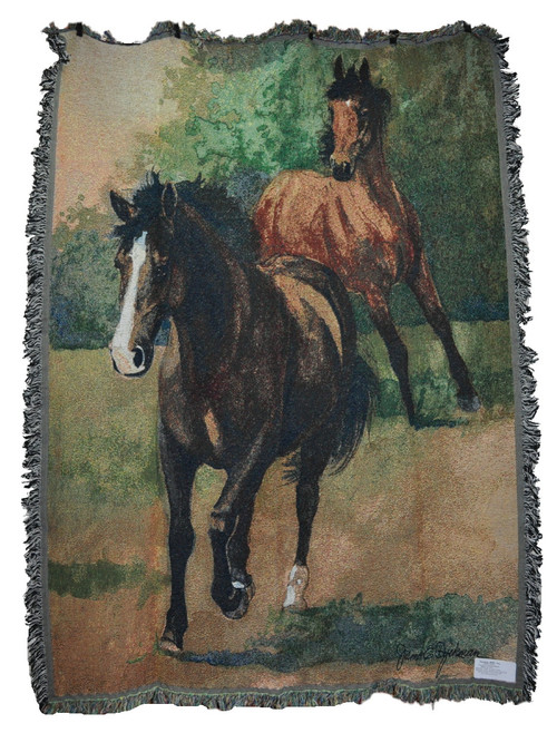 Country Mills Running Free Horse Tapestry Throw