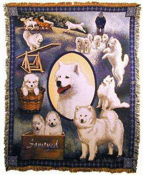 Samoyed Dog Tapestry Throw MS-7049TU3