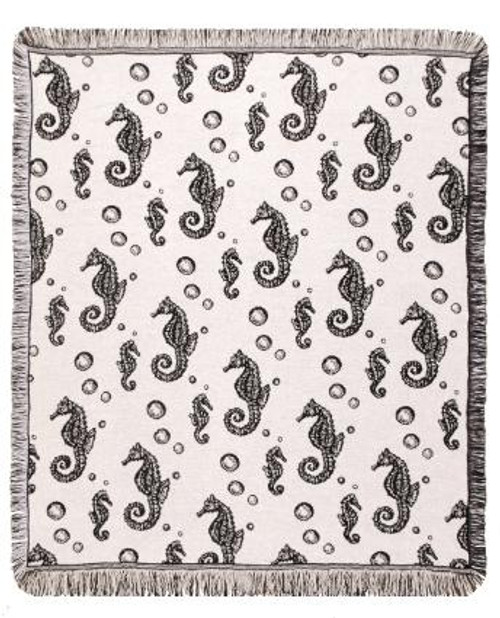 Seahorses Eco2Cotton Throw
