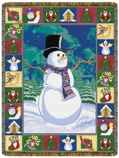 Snowmans Dream Tapestry Throw