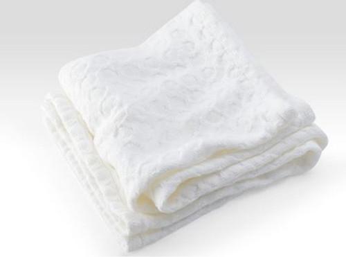 Brahms Mount Sandpiper Cotton Baby Blanket White