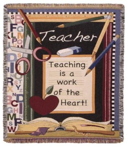 Teacher Work Of The Heart Blanket