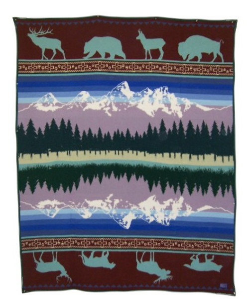Grand Teton 25th Anniversary Blanket woven by Pendleton Woolen Mills
