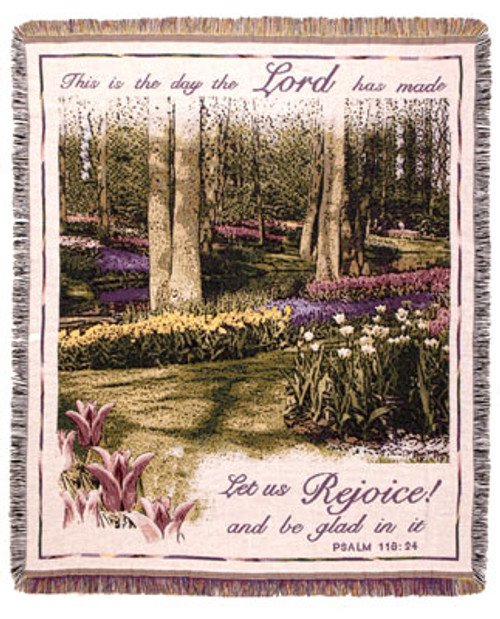 This is the Day that the Lord has made Tapestry Throw